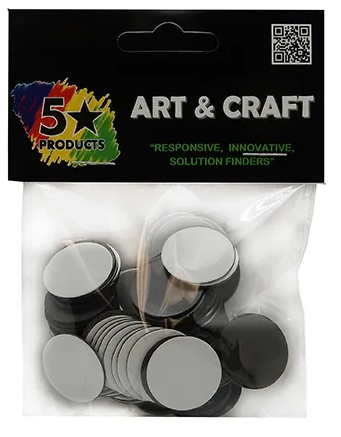 Craft Magnet Round Adhesive Pack