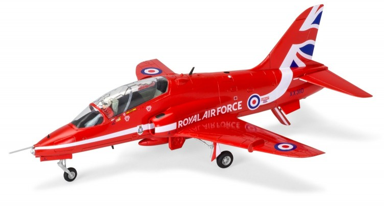 Airfix Medium Starter Set Red Arrows Hawk