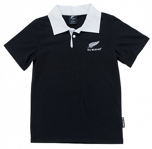 All Blacks Kids Rugby Jersey (White Collar)