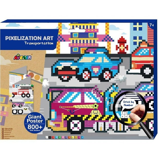 Avenir Pixelation Art Transportation