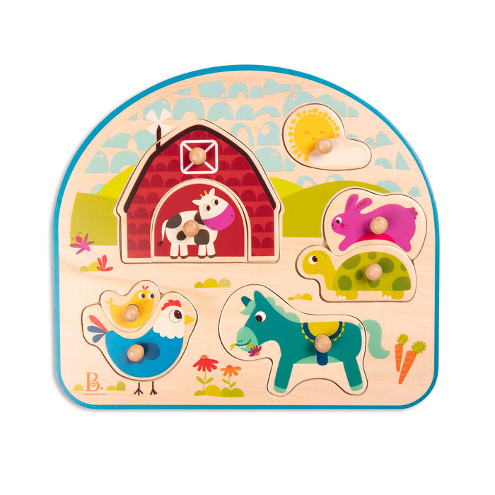 Battat Animal Barnyard Wooden Puzzle