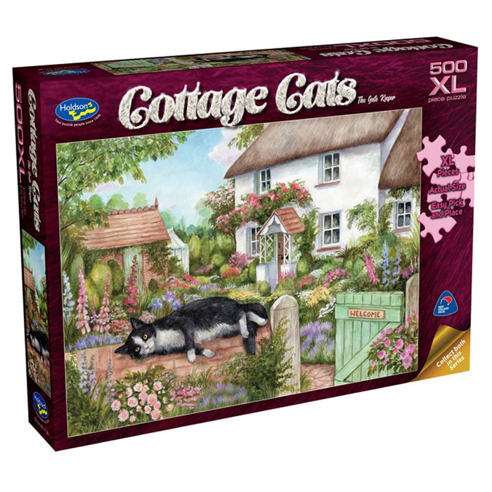 Cottage Cats The Gate Keeper Puzzle 500XL