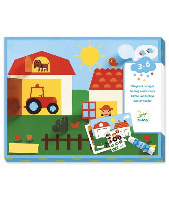 Djeco Hide and Seek Folding and Stickers Set