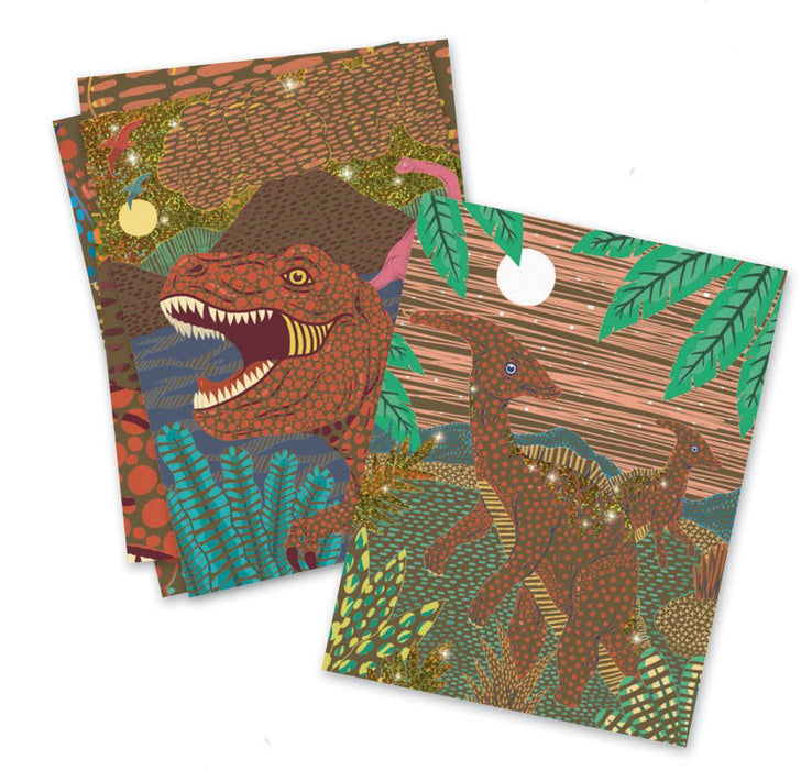 Djeco Scratch Boards When Dinosaurs Reigned