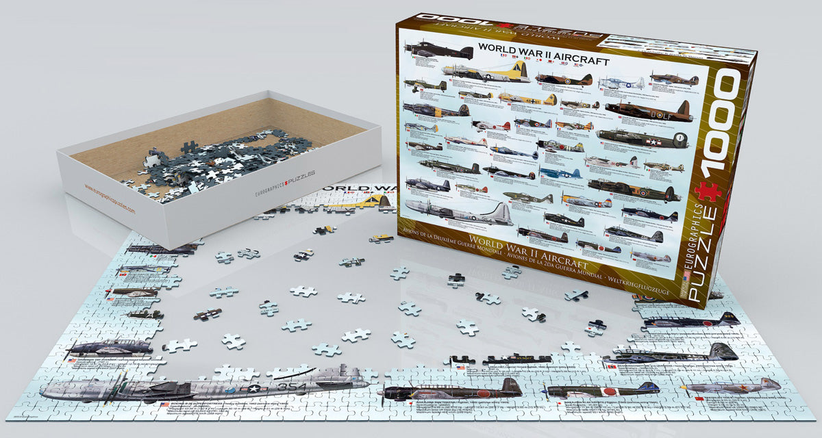 Eurograhics WWII Aircraft Puzzle (1000pc)