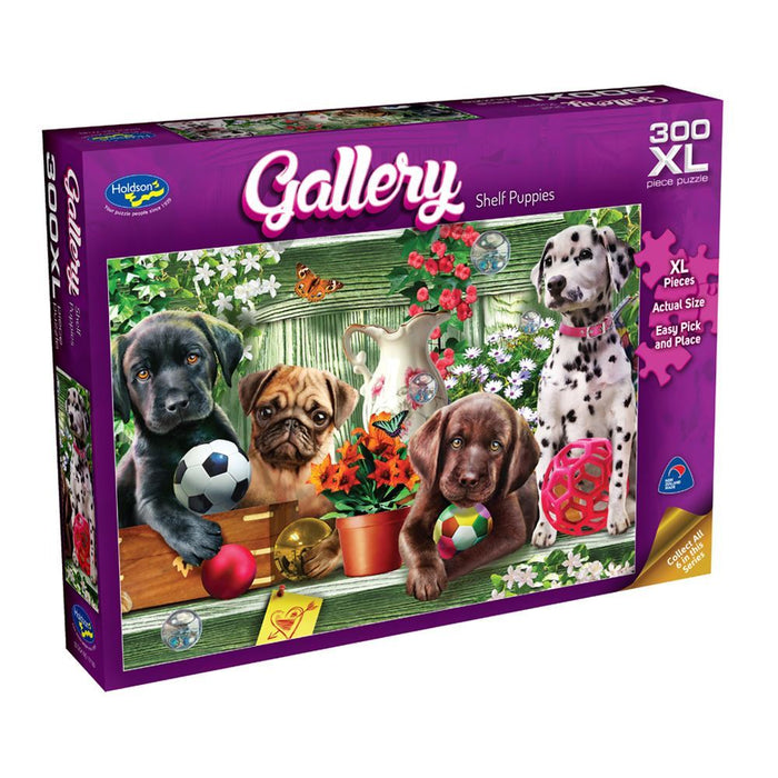 Gallery Shelf Puppies Puzzle 300XL