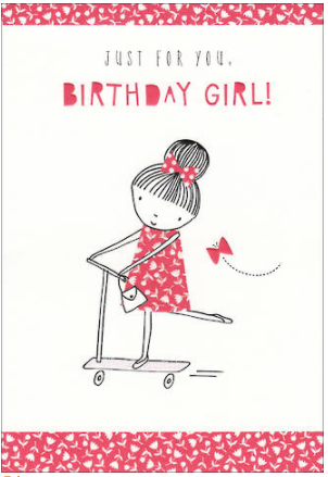 Birthday Card - Just for you Birthday Girl