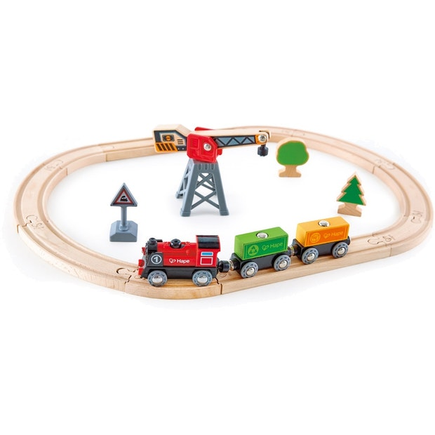 Hape Cargo Delivery Loop Train Set