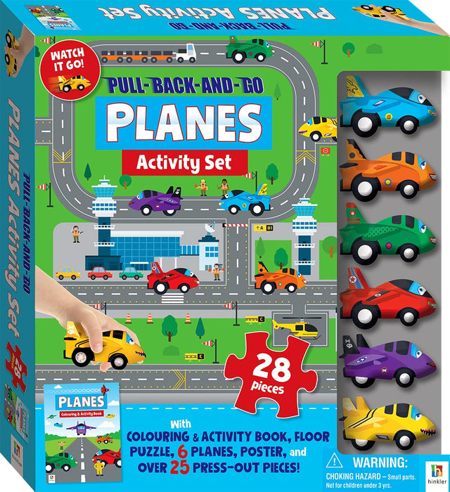 Hinkler Pull Back & Go Planes Activity Set