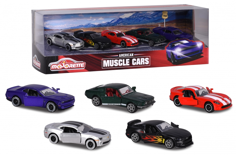 Majorette American Muscle Car Set