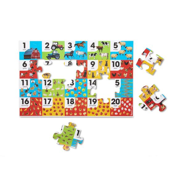 Melissa & Doug Farm Animal Number Floor Puzzle (24pc)