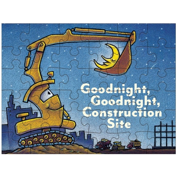 Mudpuppy Puzzle to Go Goodnight Construction Site