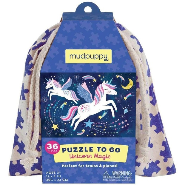 Mudpuppy Puzzle to Go Unicorn Magic