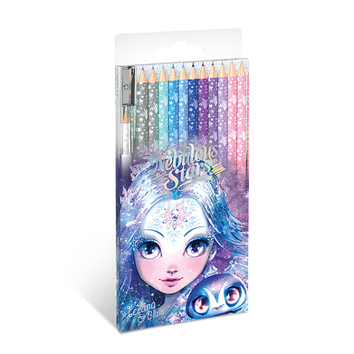 Nebulous Stars Wooden Colouring Pencils 12