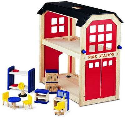 Pin Toy Wooden Fire Station