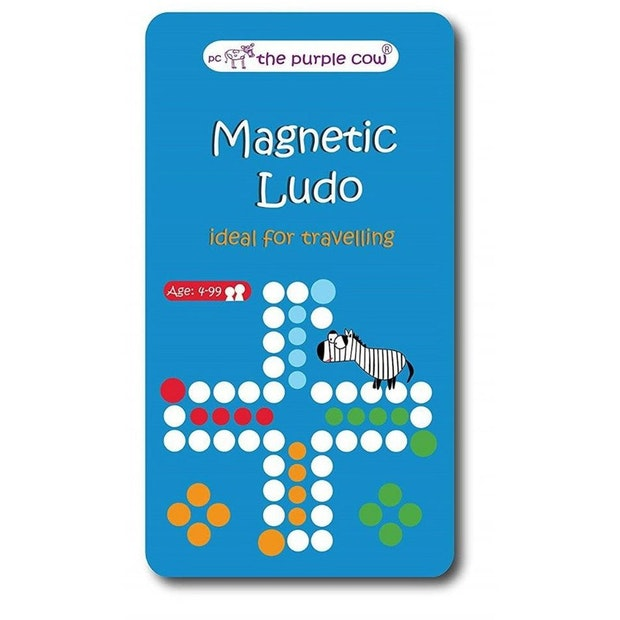 Purple Cow Magnetic Ludo Game