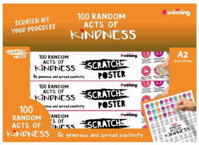 Scratch Poster - 100 Random Acts of Kindness