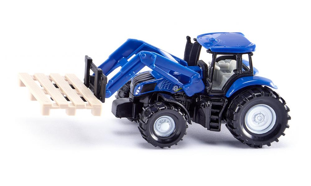 SIKU 1487 New Holland Tractor with Forks & Pallet