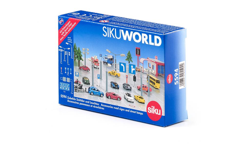SIKU 5594 Accessories Road Signs & Street Lamps