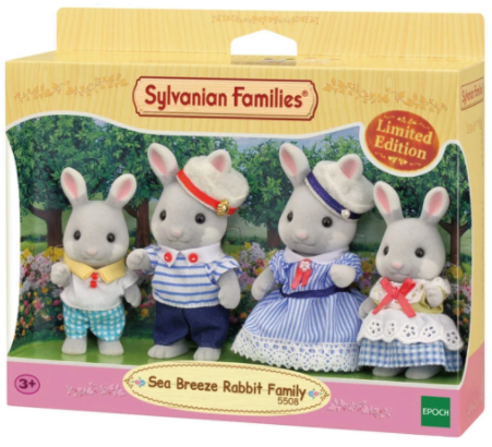 Sylvanian Families Sea Breeze Rabbit Family