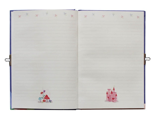 Tiger Tribe Lockable Diary Unicorn Rainbow