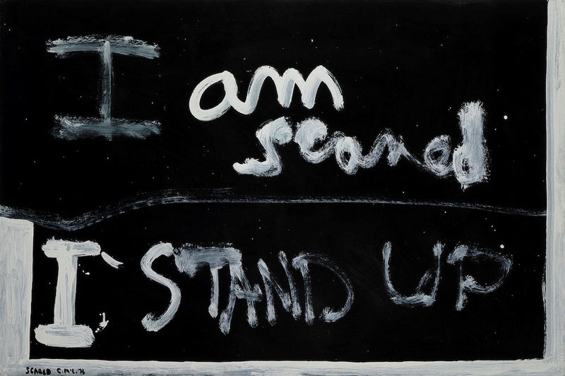 McCahon, Colin - Scared; 1976
