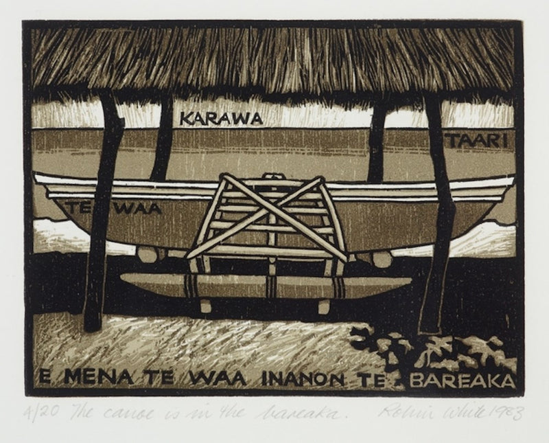 Robin White - The canoe is in the bareaka. 4. From: Beginners' guide to Gilbertese *PRE ORDER