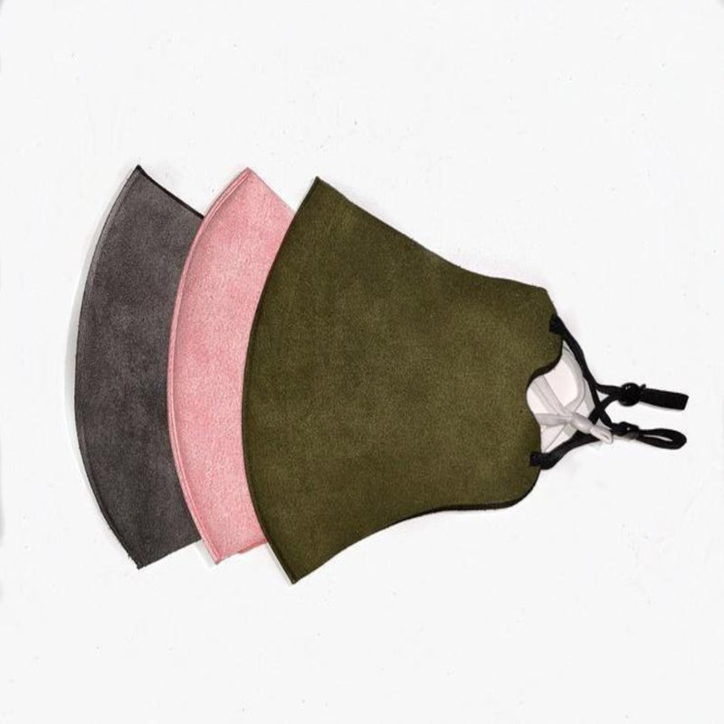 Mask set of 3.  mixed colour, Dusky Pink, Olive and Light Grey.  PRE ORDER NOW LIMITED STOCK