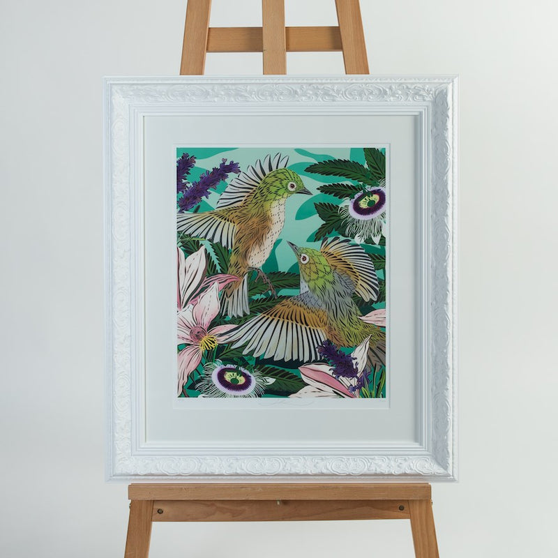 Winged Waxeyes Art Print range