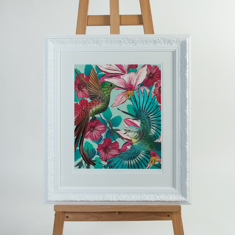 Heavenly Hummingbirds Art Print range