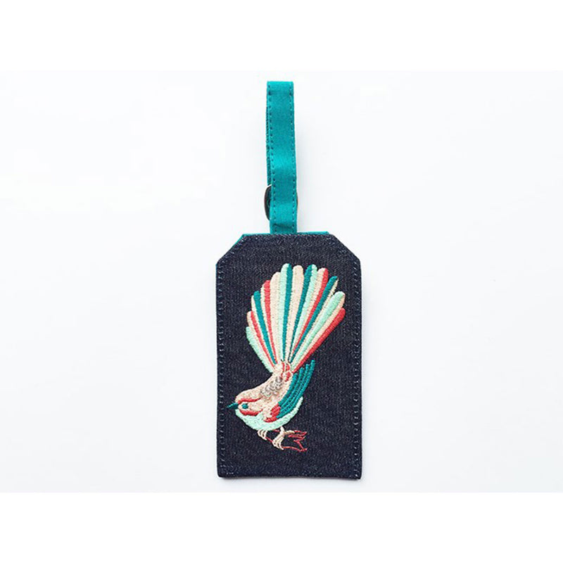 Luggage Tag Coloured Fantail