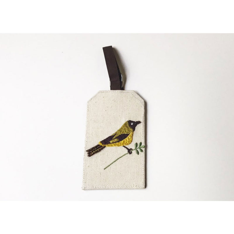 Lugg Tag Bellbird & Kowhai on Cotton