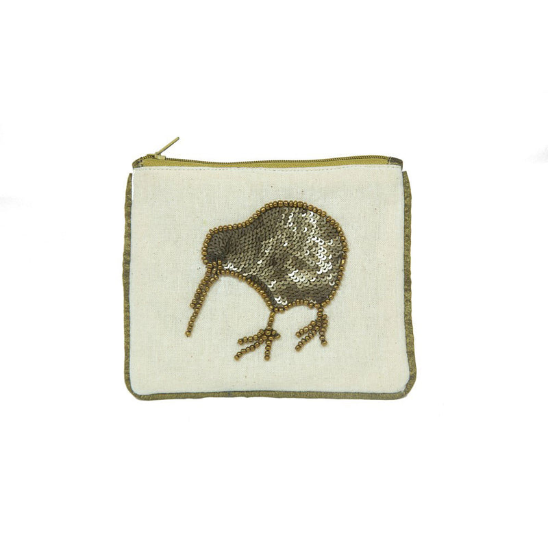 Small CoinPurse with Bronze Kiwi
