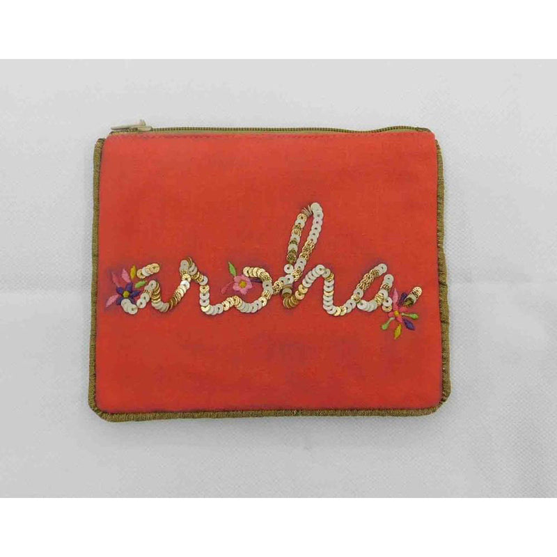 Aroha small pouch coral