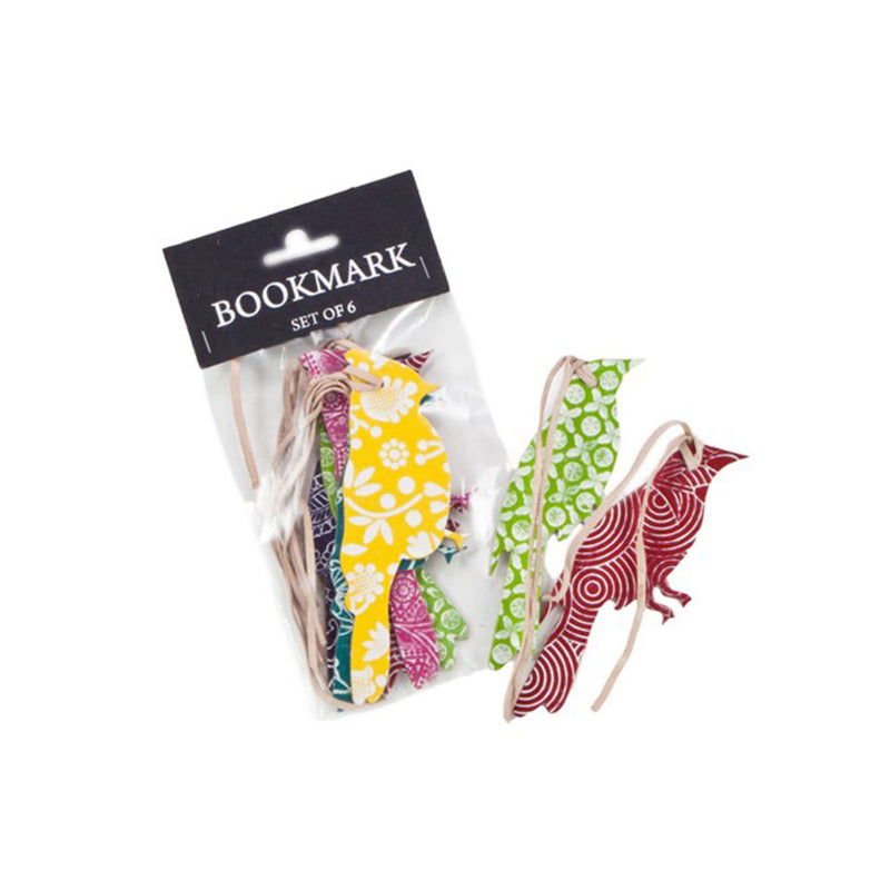 Bookmark Leather Pack of 6 - with white pattern embossed