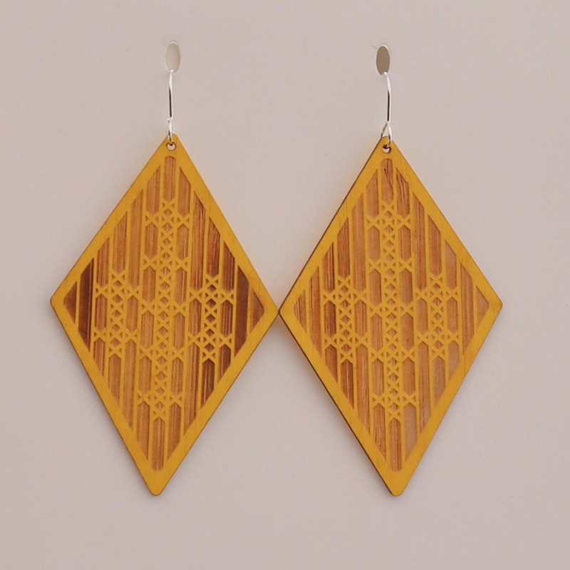 BAMBOO + YELLOW MATARIKI I EARRINGS