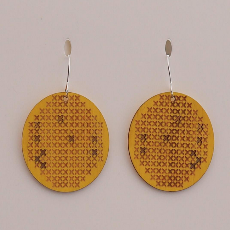 BAMBOO + YELLOW MATARIKI II EARRINGS