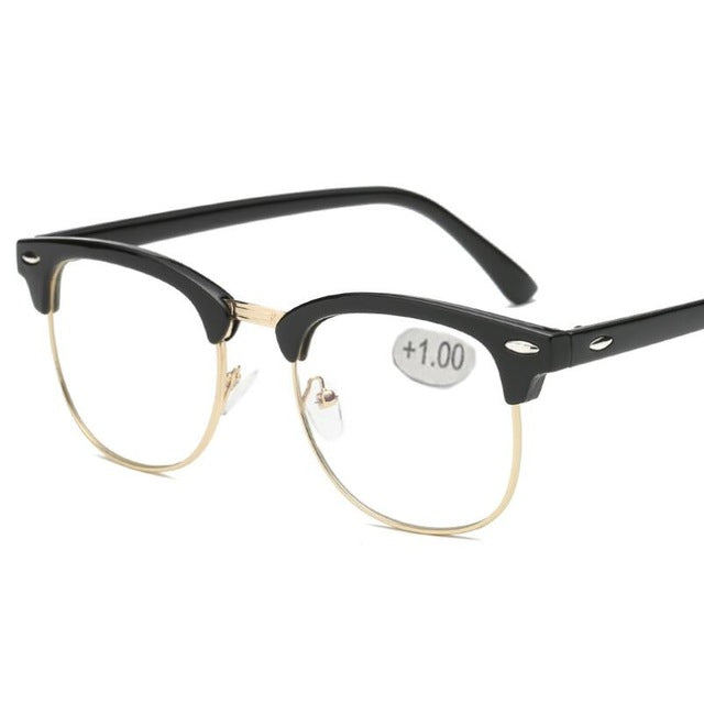 Metal Half Frame Reading Glasses For Men & Women - BERLINS