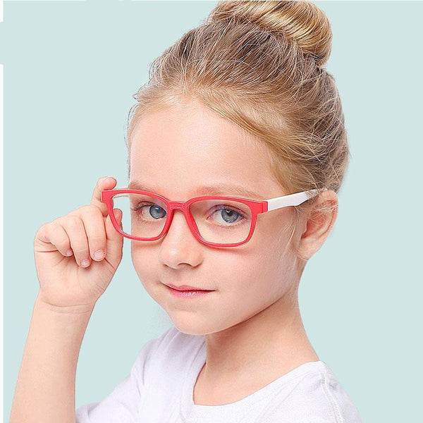 Square Blue Light Kids Glasses Optical Frame - BERLINS