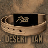 Ridge Belts Desert tan belt is a waterproof, lightweight and rugged hiking belt. Each belt is cut to fit and built for the outdoors, hunting or camping. The perfect all around outdoor belt.