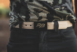 Ridge Belts Desert tan belt is a waterproof, lightweight and rugged hiking belt. Each belt is cut to fit and built for the outdoors, hunting or camping. The perfect all around outdoor belt. Mens hunting belts