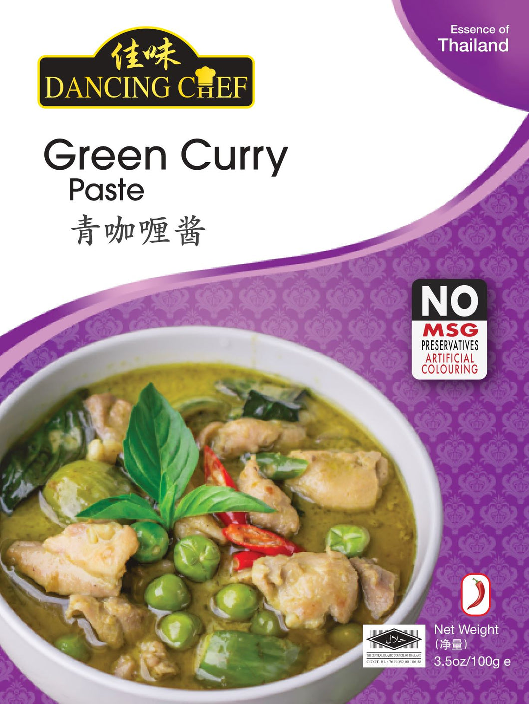 Dancing Chef Thai Flavor Green Curry 100g