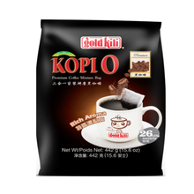 Load image into Gallery viewer, Gold Kili Premium 2-In-1 Kopi-O (Black Coffee Mixture Bag) (26's X 17g)
