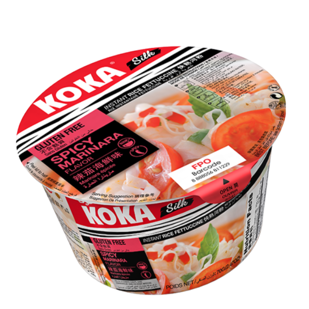 Koka Bowl Rice Noodles Spicy Marinara 70g