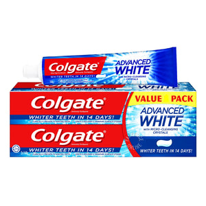 Colgate Advanced Whitening T/P Toothpaste 160g x 2 + 90g