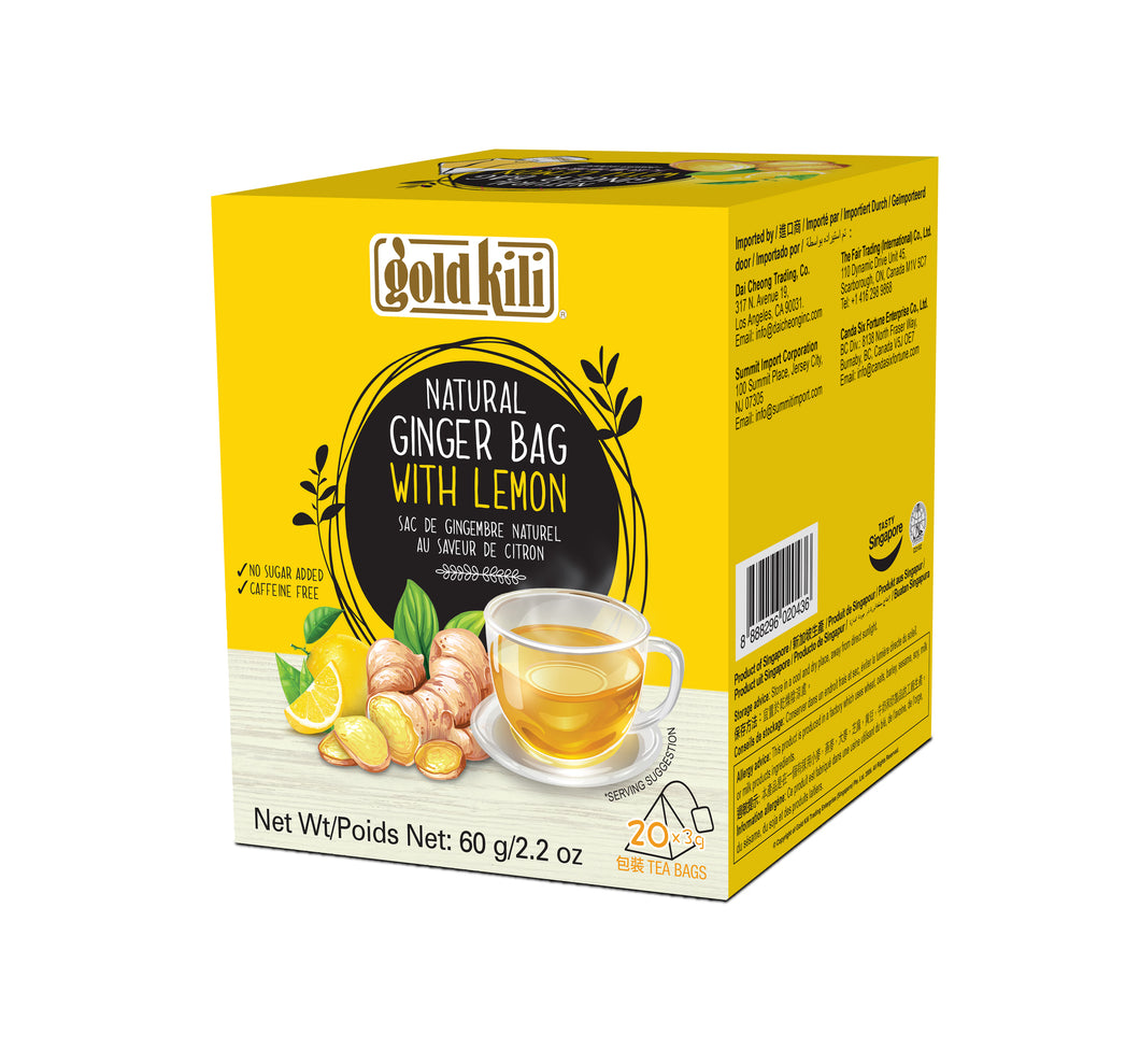 Gold Kili Natural Ginger Lemon Bag (20's X 3g)