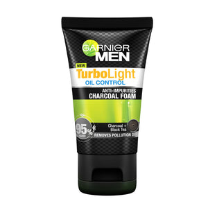 Garnier Men Turbo Light Oil Control Charcoal Black Foam 100ml