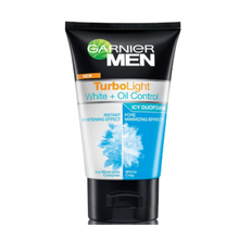 Load image into Gallery viewer, Garnier Men Turbo Light White & Oil Control Icy Duo Foam 100ml