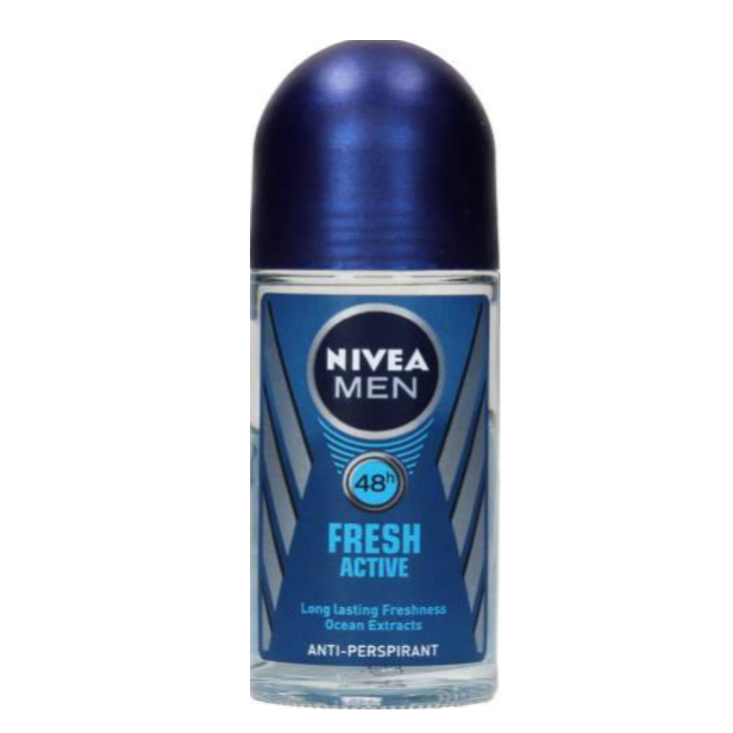 Nivea Men Roll On Fresh Active (New) 50ml