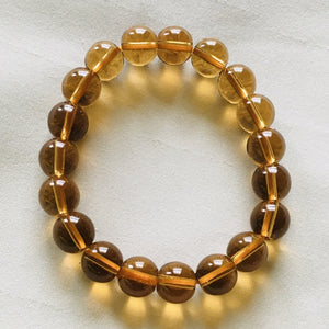 1 Pc Natural Crystal Citrine Charm Bracelet (Reduced Price)